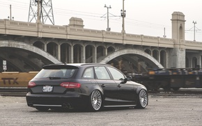 Picture Audi, wheels, black, wagon, stance, before