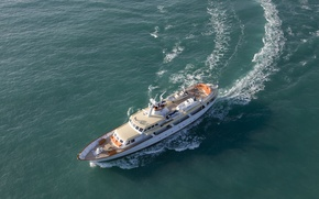 Picture the way, the ocean, yacht, Motor Yacht HIGHLANDER