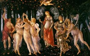 Picture picture, Spring, mythology, Sandro Botticelli