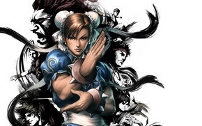 Picture art, PS3, Fighters, fighting, Chunli, Chun-Li, Sakura Kasugano, Ryu, Street Fighter III: Third Strike - …