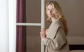 Picture brown eyes, beautiful, window, blonde, cute, pretty face