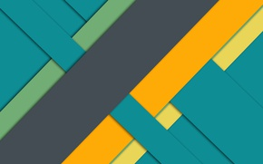 Picture line, yellow, green, grey, geometry, design, material