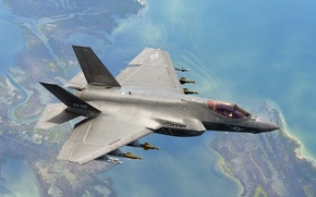 Picture weapons, the plane, F-35C