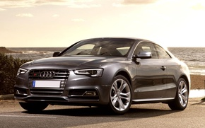 Picture Audi, Audi, Machine, Grey, Car, Car, Coupe, Wallpapers, Wallpaper
