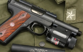Picture gun, weapons, semi-automatic, Ruger 22/45