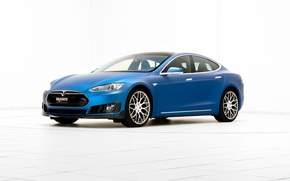 Picture background, Brabus, Tesla, Model S, 2015, electrocar