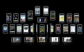 Wallpaper iphone, brand, iPhones, telefonchiki, cell phones, cellphones, phones