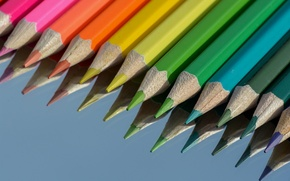 Picture macro, pencils, colorful