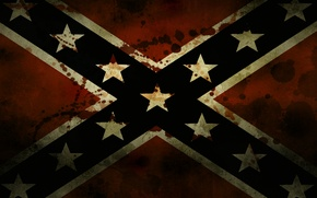 Picture stars, flag, Blood, Confederate