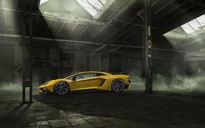 Picture car, tuning, Lamborghini, car, side view, tuning, Aventador, Novitec, Torado, LP 750-4