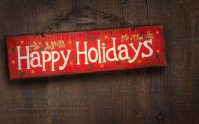 Wallpaper holiday, the inscription, plate, congratulations
