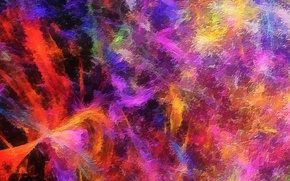 Wallpaper paint, color, rainbow, the volume, spot, relief