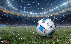 Picture lawn, the ball, adidas, stadium, PES 2016, euro 2016, Euro 2016