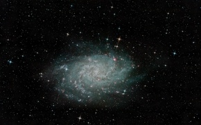 Picture spiral galaxy, M 33, in the constellation, Triangle, NGC 598