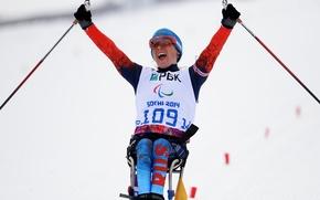 Picture joy, victory, Biathlon, Sochi 2014, Sochi 2014, Paralympic games, Paralympic games, she, Paralympic champion, Paralympics, …