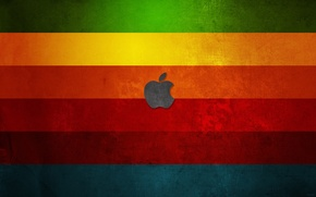 Picture color, apple, rainbow