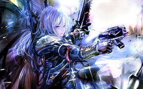 Picture girl, weapons, blonde, equipment, Warhammer 40k, Sister Of Battle