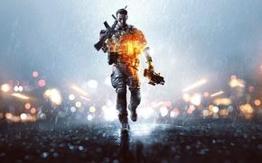 Picture lights, weapons, rain, soldiers, helmet, equipment, helmet, the vest, Electronic Arts, DICE, Battlefield 4, EA …