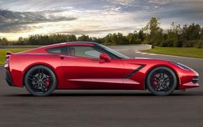 Picture Corvette, Chevrolet, Chevrolet, side view, Stingray, Corvette, Stingray