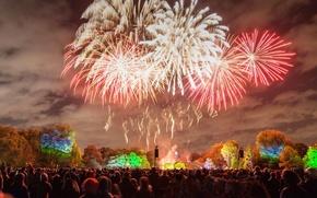Picture lights, Park, England, London, salute, fireworks, Battersea
