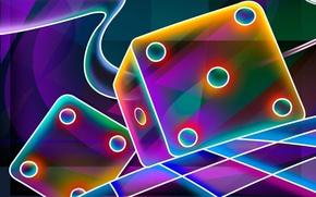 Picture light, Wallpaper, cubes, the game, Shine, bones, cells, Board, shape