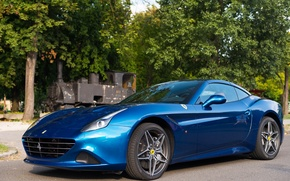 Picture Ferrari, blue, California