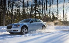 Picture winter, snow, nature, sedan, Chrysler 300