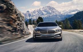 Picture auto, BMW, mountain road