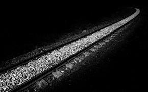 Picture background, minimalism, railroad