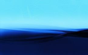 Wallpaper bending, blue, strip