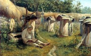 Picture mood, picture, old man, beekeeper, Bogatov Nikolai