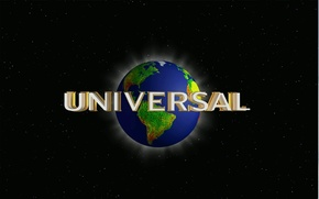 Wallpaper stars, earth, the inscription, planet, logo, Studio, universal