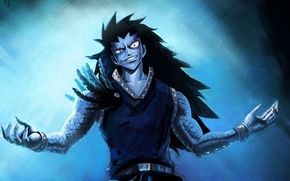 Picture guy, anime, art, fairy tail, gajeel redfox