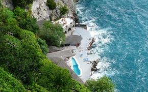 Picture sea, nature, photo, coast, Italy, top, Amalfi