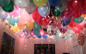 Picture room, holiday, balls, inflatable, birthday