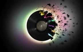 Picture music, black, pieces, vinyl, record