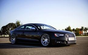 Picture Audi, Audi, black, black, frontside