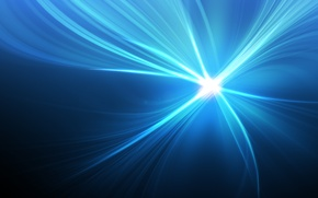 Picture rays, light, blue