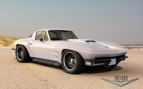 Picture white, Corvette, Chevrolet, Chevrolet, Coupe, the front, 1966, Corvette, by Zolland Design