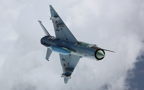 Picture The MiG-21, flight, fighter, clouds, multipurpose