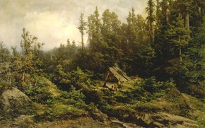 Picture picture, painting, painting, Carl Von Perbandt, Pomo Indians Camped at Fort Ross, 1886