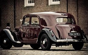 Picture retro, pavers, car