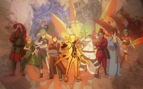 Picture Naruto, anime, Killer Bee, Han, Roush, Jinchuuriki, Yugito Nii, Fuu, You will chop, Yagura, Gaara, …