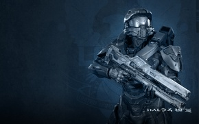 Picture soldiers, rifle, the suit, Halo 4