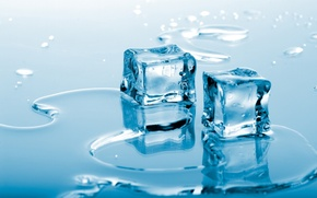 Wallpaper cubes, water, ice