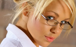 Picture girl, glasses, the beauty