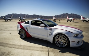 Picture auto, tuning, Mustang, fighters, Ford, Ford Mustang GT, US Air Force Thunderbirds Edition