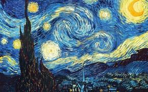 Wallpaper Picture, Starry night, van Gogh