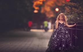 Wallpaper girl, bokeh, dress