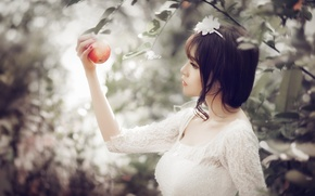 Picture look, girl, Apple, Asian